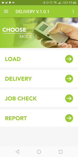 Delivery App in KOAMTACON by KOAMTAC