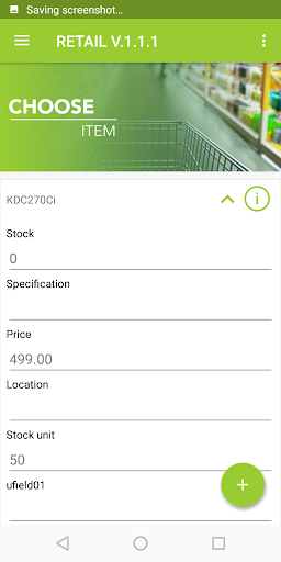 Retail App Item Detail in KOAMTACON by KOAMTAC