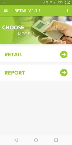 Retail App Main Menu in KOAMTACON by KOAMTAC