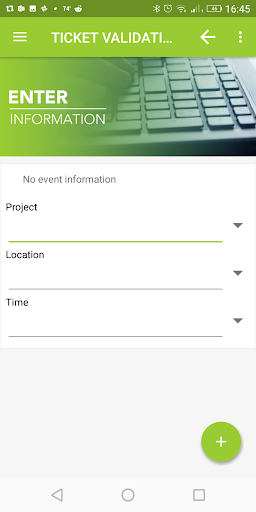 Ticket Validation App Enter Information in KOAMTACON by KOAMTAC