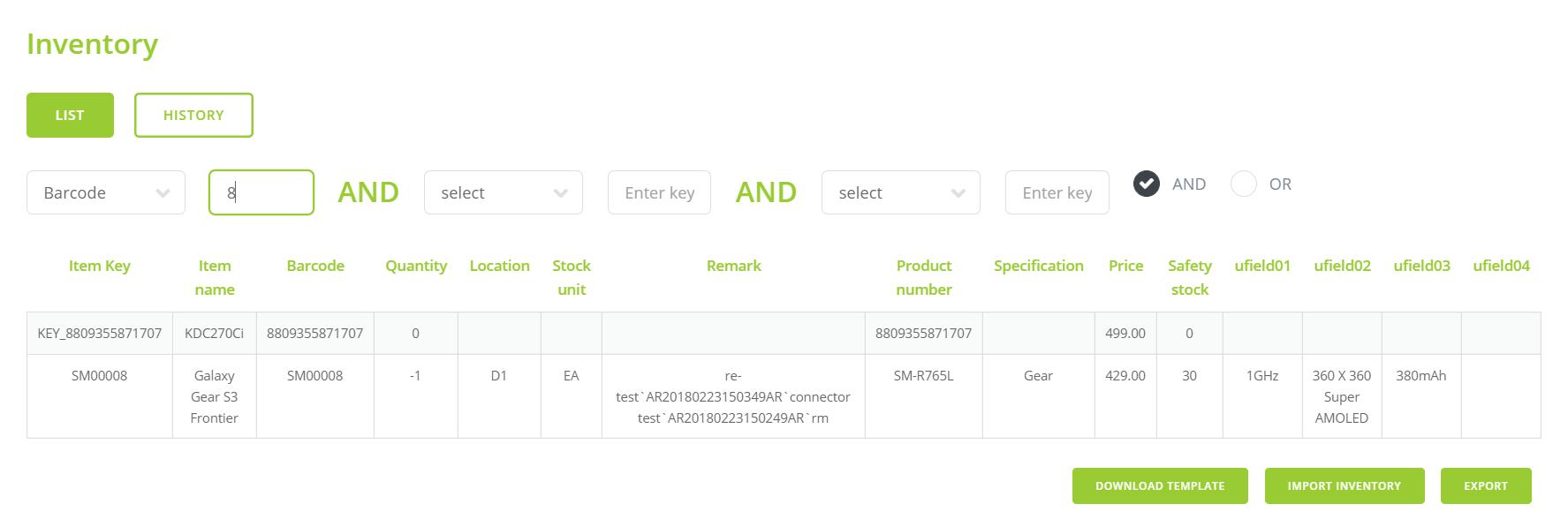Inventory App Admin in KOAMTACON by KOAMTAC