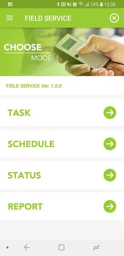 Field Service App home screen in KOAMTACON by KOAMTAC