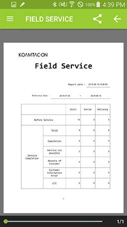 Quickly run reports for all service calls in KOAMTACON by KOAMTAC