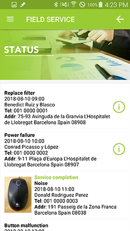 Real-time service order status updates at your finger tips in KOAMTACON by KOAMTAC