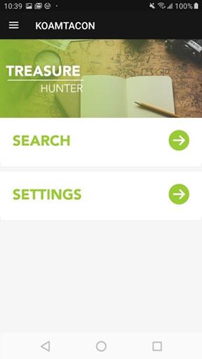 Treasure Hunter App Home